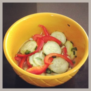 cucumber salad instagram