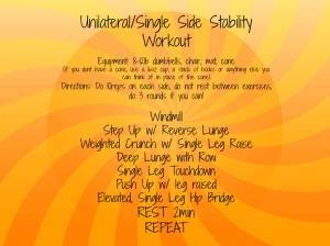 Unilateral Workout