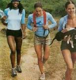 girls hiking